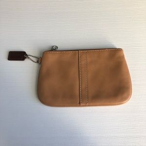 Coach Brown Leather Small Coin Purse